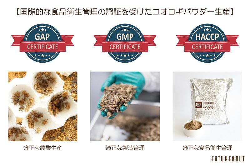 国際的な食品衛生管理の認証を受けたコオロギパウダー生産